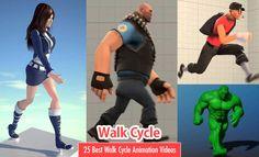 25 Best Walk Cycle Animation Videos and keyframe illustrations. Read full article: http://webneel.com/walk-cycle-animation | more http://webneel.com/animation | Follow us www.pinterest.com/webneel