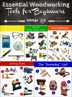 Essential Woodworking Tools for Beginners: A wishlist! on Diane's Vintage Zest! Click visit link for more details