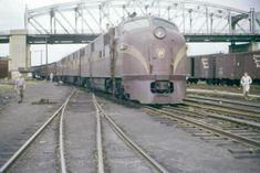 PRR E7A #5860 in Wilkes-Barre, June 12th 1955 Electric Locomotive, Diesel Locomotive, John Moody, Pennsylvania Railroad, Train Pictures, Train Engines, Transportation, American, Apocalypse