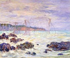 Claude Monet - Fishnets in Pourville  1882