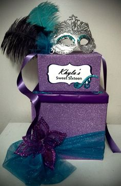 masquerade money box; design by Davis Floral Creations