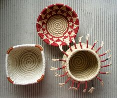 Coiled baskets by Freya Willemoes-Wissing, via Flickr