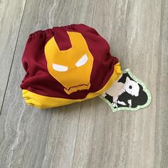 Iron Man Cloth Diaper Cover or Pocket Diaper One Size
