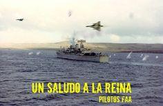 Regards to Her Majesty from Argentinian airforce The Art Of Flight, Military Dictatorship, Falklands War, Royal Marines, Navy Ships, Korean War, Royal Navy, Vietnam War, Battleship