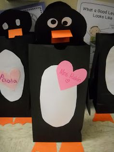 Rulin' The Roost: Penguin Valentine Bags!