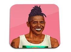 Hipstory | Barack Obama Wooden Coaster | BellaKoola - Cool Design Gifts & Lifestyle Shop – bellakoola - Cool Design & Lifestyle Shop
