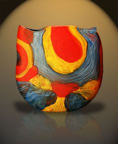 Noel Hart, <i>Eastern Rosella Vessel</i>, 2002. Browse Gallery for Master Bedroom and Bath, 2nd image.   Crimson Rosella, the bird by N.H. https://www.instagram.com/p/BAnx4Z-Hf63/
