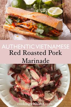 Red pink roasted red pork for banh mi sandwich | banh mi recipe | banh mi meat | recipe for banh mi #banhmi #vietnamesefood
