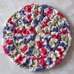 Round Clustered Hot Pad ~ FREE Crochet Pattern