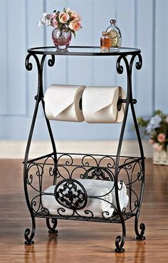 This awesome and beautiful vintage wrought iron table gives your bathroom a royal and grand feel. The added advantage of… – metal of life Interior Decorating Styles, Home Decor Trends, Decor Ideas, Interior Design Boards, Bathroom Interior Design, Contemporary Decor, Modern Decor, Wrought Iron Decor, Iron Furniture