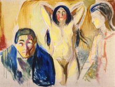 Los celos  Edvard Munch  1913-1915   Munch-Museet - Oslo (Noruega) Pintura - óleo sobre lienzo  Altura: 75 cm (29.53 en.), Anchura: 98 cm (38.58 pulg.)