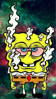 spongebob, weed, and marijuana image Weed Wallpaper, Cartoon Wallpaper, Wallpaper Lockscreen, Screen Wallpaper, Cartoon Kunst, Cartoon Art, Trippy Drawings, Art Drawings, Phone Backgrounds