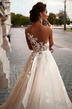 Wonderful Perfect Wedding Dress For The Bride Ideas. Ineffable Perfect Wedding Dress For The Bride Ideas. Lace Wedding Dress, Dream Wedding Dresses, Wedding Gowns, Tulle Wedding, Dress Lace, Lace Dresses, Champagne Wedding Dresses, Modest Wedding, Illusion Neckline Wedding Dress