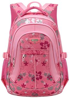 Coofit School Backpack for Girls Flowers Pattern Backpacks for Middle School Cute Bookbag for School >>> Visit the image link more details.