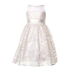 c1363b9108ba6 Pinko - Abito Pizzo Bianco 02 Bambina - Elegante abito lungo in pizzo bianco  firmato Pinko