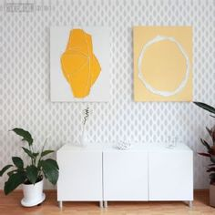 Teardrop Repeat Stencil - Buy reusable wall stencils online at The Stencil Studio