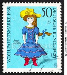 Doll postage stamp