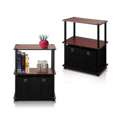 Furinno 2-99152DC Go Green 3-Tier 2-Bin Multi-Purpose Storage Shelf (Set of 2), Dark Cherry ** You can get additional details at the image link. (This is an affiliate link) #HomeDecorIdeas