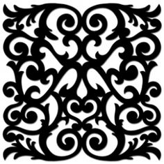 Maya Road Sheer Sheets - Scrolls Stencil Templates, Stencil Patterns, Stencils, Cnc Cutting Design, Water Candle, Adult Coloring Book Pages, Black White Art, Carving Designs, Mandala Drawing