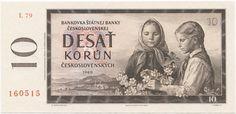 10 Korún ceskoslovenských 1960 (Pionier- und Bauernmädchen),  Tschechoslowakei Sozialistische Republik (CSSR)