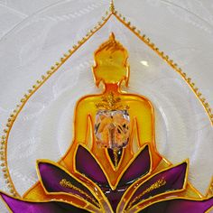 Stained Glass Censer Mandala Buddha over Lotus Flower. made on glass with 13,5cm diameter. #bela_mandala #belamandala