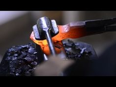 Forging a hot cut hardie - YouTube
