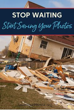 Don't wait for a disaster to strike. Start saving your photos today. Organizing, Organization, Photo Today, Love My Family, Family Memories, Save Yourself, Your Photos, Waiting, Told You So