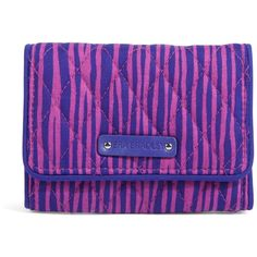 Vera Bradley Petite Trifold Wallet in Impressionista Stripe ($34) ❤ liked on Polyvore featuring bags, wallets, accessories, impressionista stripe, sale, trifold wallet, crossbody wallet, blue crossbody, vera bradley and snap wallet