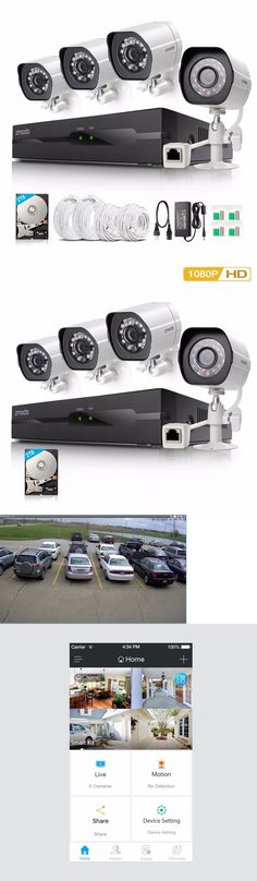 Security Cameras: Zmodo 4Ch Nvr 1080P Spoe Ip Network Outdoor Ir Home Security Camera System 2Tb BUY IT NOW ONLY: $199.99