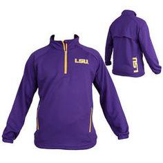 LSU Tigers Quarter Zip Performance Sweatshirt Aviator - $34.99 http://www.lsutigersapparel.com/lsu_tigers_quarter_zip_performance_sweatshirt_aviator_c_p465.htm