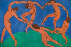 """Henri Matisse Italian The Dance This painting is an example of fauvism -- a style known for its bright colors. At the time, other painters didn't like the style and called Matisse and his friends """"les fauves"""" (French for wild beasts). Matisse Kunst, Matisse Art, Vincent Van Gogh, Tanz Poster, Henri Matisse Dance, Matisse Pinturas, André Derain, Matisse Paintings, Most Famous Paintings"""