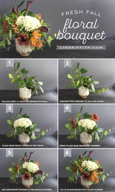 How To Style a Fresh Flower Centerpiece