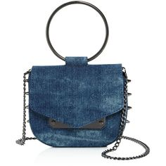 Nasty Gal Ring Leader Denim Crossbody - 100% Exclusive ($83) ❤ liked on Polyvore featuring bags, handbags, shoulder bags, blue purse, blue shoulder bag, blue cross body purse, crossbody handbags and crossbody purses