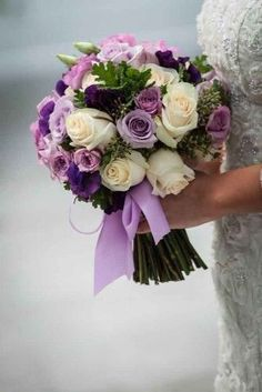 24 purple wedding bouquets 9