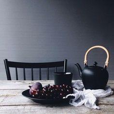 Black Tea by @signebay  #BlackFluted #RoyalCopenhagen