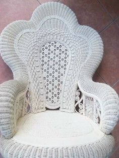 amazing white rattan colonial chair