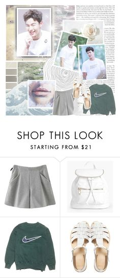 """shownu // monsta x // new bias? yes."" by black-galaxy ❤ liked on Polyvore featuring Chicnova Fashion, Boohoo, NIKE and ASOS"