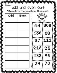 Even \u0026 Odd Numbers Worksheet This Site Has Lots Of Printable Montessori 2nd Grade Even And Odd Worksheet Odd And Even Worksheets 2nd Grade #17