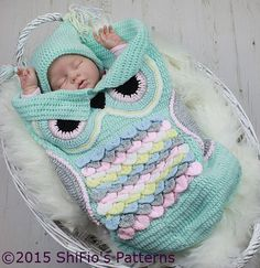 Des patrons de nids d'anges hiboux pour bébé, à faire au crochet! - Bricolages - Trucs et Bricolages