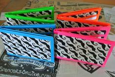 Mustache Duct Tape Wallets by TaylorTape on Etsy, $8.00