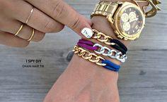 DIY Chain Hair Tie Bracelets