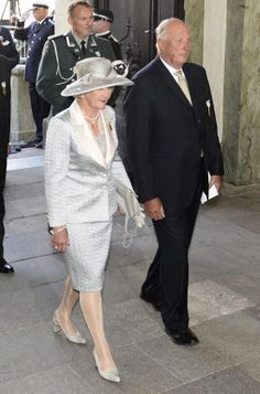 King Harald and Queen Sonja of Norway. - - - Sverige: Regjeringsjubileum DDMM