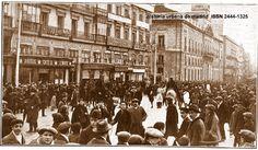 Historia Urbana de Madrid: Fototeca. Puerta del Sol y Café de Levante. Madrid...
