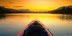 Sunset by canoe