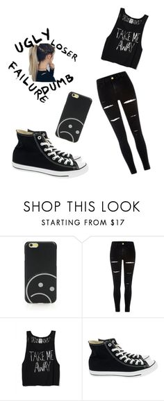 """""""🙈"""" by metteaadahl on Polyvore featuring Marc by Marc Jacobs, Victoria's Secret and Converse"""