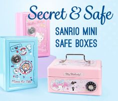 Keep your valuables together and safe in these super adorable Mini Safe Boxes!