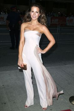 Kate Beckinsale in an Azzaro jumpsuit at the Toronto Film Festival