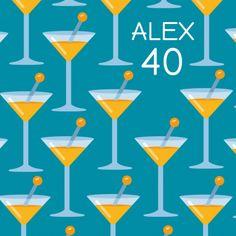 Einladungskarte Mit Cocktailgläsern Auf Farblich Wählbarem Hintergrund. Nur  Texte Einsetzen! (Hinweis: Für
