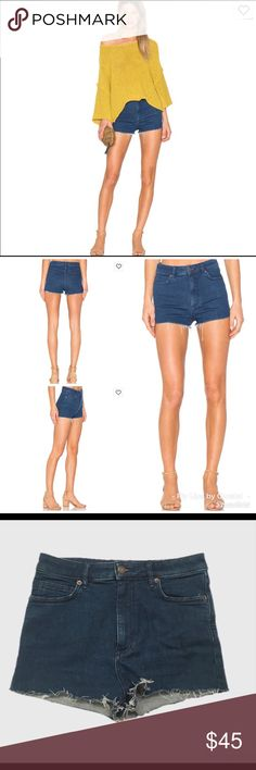 We the Free High & Tight Cut Off Denim Shorts NWOT. Bought June 2017 from Nordstrom. Never got around to wearing them. Free People Shorts Jean Shorts
