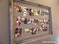 """Source:sundiandmike.blogspot.com 4. Hanging On Strings In A Frame If simply hanging your photos from a string on the wall seems too """"unfinished"""" for you, try suspending the string from a frame, then clip the photos to the string. This creates more of a traditional look that might appeal more to you, but it's still anContinue Reading..."""